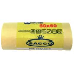 Bz sacco immondizia hd giallo - lt. 25 cm.50x60