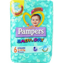 Pampers baby dry extralarge x19