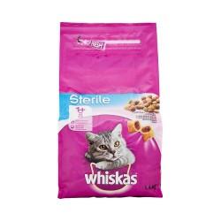 Whiskas crocchette sterile 1+ salmone - kg.1,4