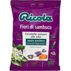 Ricola Fiori di sambuco caramelle alle erbe balsamiche senza zucchero 70 gr.