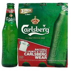 Carlsberg birra cl.33 cluster x3