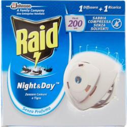 Raid night&day zanzare base + ricarica