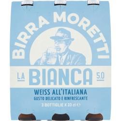 Moretti birra la bianca cl.33 clust. x3