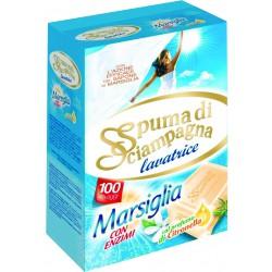 Spuma di Sciampagna detersivo Marsiglia 100 missurini kg.6,8