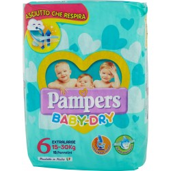 Pampers BABY DRY Extralarge x15
