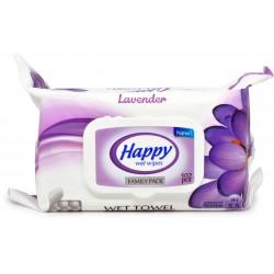 Happy salviette bimbi lavanda x102