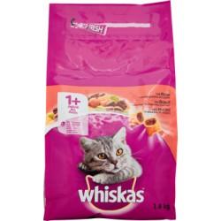 Whiskas crocchette adult 1+ manzo - kg.1,4