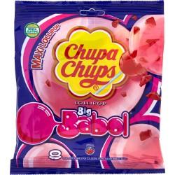Chupa Chups Big Babol 8 Lollipop Aroma Ciliegia Ripieno Bubble-Gum  gr.144