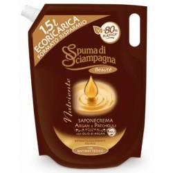 Spuma di Sciampagna Nutriente Saponecrema Argan e Patchouli Ecoricarica lt.1,5