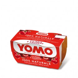 Yomo 100% Naturale ciliegie e amarene 2 x 125 gr.