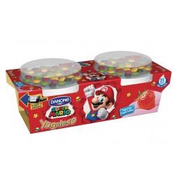 Danone Yogoloso Yogurt con Fragola frullata Super Mario 2 x 110 gr.