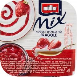 Müller Mix Yogurt Bianco più Fragole 150 gr.