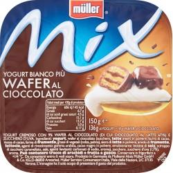 Müller Mix Yogurt Bianco Più Wafer al Cioccolato 150 gr.