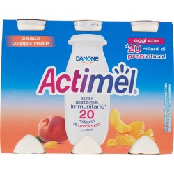Actimel pesca - pappa reale 6 x 100 gr.