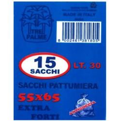 Tre Palme 15 sacchi pattumiera 55x65 extra forti e antigoccia