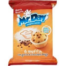Mr day muffin classico - gr.252 x6