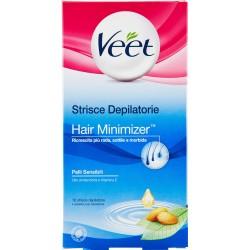 Veet Strisce Depilatorie Hair Minimizer Pelli Sensibili 16 pz.