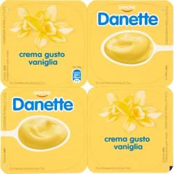 Danette Danone crema gusto vaniglia 4 x 125 gr