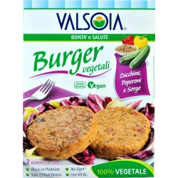 Valsoia burger Zucchine, Peperoni e sorgo gr. 200