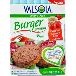 Valsoia Bontà e Salute Burger vegetali pomodoro, pomodori secchi e quinoa 2 x 100 gr.