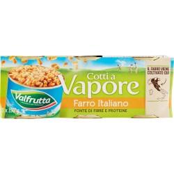 Valfrutta Cotti a Vapore Farro Italiano 3 x 150 gr.