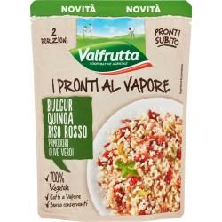 Valfrutta I Pronti al Vapore Bulgur, Quinoa, Riso Rosso, Pomodori, Olive Verdi 220 gr.