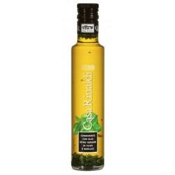 Casa Rinaldi olio extra vergine d'oliva con basilico ml.250