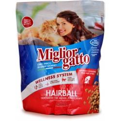 Migliorgatto Hairball Croccantini con Manzo, Pollo e Fegato 800 gr.