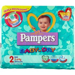 Pampers BABY DRY Mini x24
