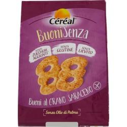 Céréal Buoni al Grano Saraceno senza lievito senza zucchero senza glutine gr.200