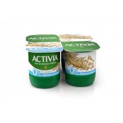 Activia Danone 0% Grassi Bianco cereali 4 x 125 gr.