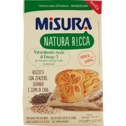 Misura Natura Ricca Biscotti con Zenzero, Quinoa e Semi di Chia gr.250
