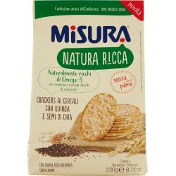 Misura Natura Ricca Crackers ai Cereali con Quinoa e Semi di Chia gr230