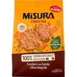 Misura Natura Ricca Crackers Integrali con Avena, Lino e Semi di Papavero  gr.230