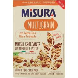 Misura Multigrain Muesli Croccante con Mandorle e Uvetta 300 gr.