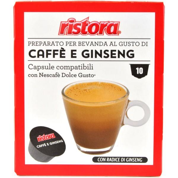 Ristora capsule caffè e ginseng gusto pezzi 10 x gr.8