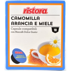 Ristora capsule camomilla arancia miele pezzi 10 x gr.8