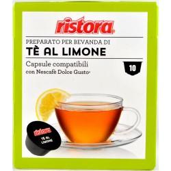 Ristora capsule tè al limone gusto pezzi 10 x gr.8