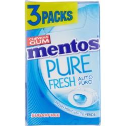 Mentos Pure Fresh 45 min Fresh Mint con Tè Verde gr.20 x 3