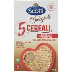 Riso Scotti gli Integrali 5 Cereali con Quinoa Riso, Grano, Avena, Segale e Orzo 500 gr.