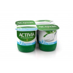Activia Danone 0% Grassi Naturale 4 x 125 gr.