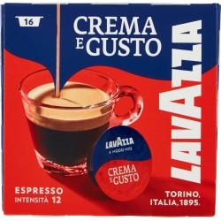 Lavazza A Modo Mio, Crema e Gusto Caffè Espresso, Intensità 12/13 - 16 Capsule