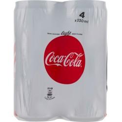 Coca-Cola Light senza Zuccheri senza Calorie lattina 330 ml Confezione da 4