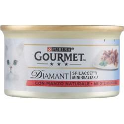 PURINA GOURMET Diamant Gatto Sfilaccetti con Manzo Naturale lattina 85gr.