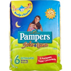 Pampers sole luna pannolini extra large x16