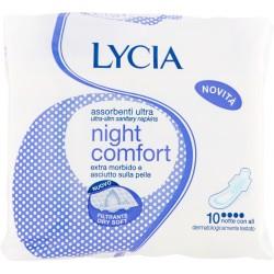 Lycia Assorbenti ultrasottili night comfort notte con ali 10 pezzi