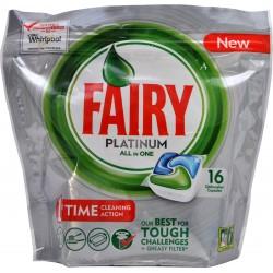Fairy Platinum Detersivo in Caps per Lavastoviglie, Confezione da 16 pastiglie