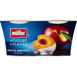 Muller Yogurt pesca albicocca cremoso gr.125x2