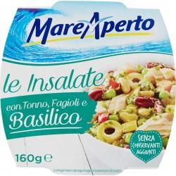 MareAperto le Insalate con Tonno, Fagioli e Basilico 160 gr.