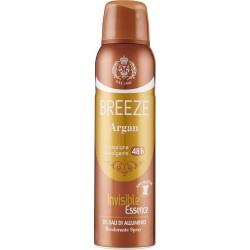 Breeze Argan Invisible Essence Deodorante Spray 150 ml.